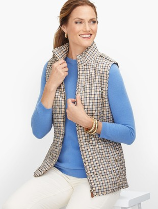 Talbots Diamond Quilted Vest - Plaid