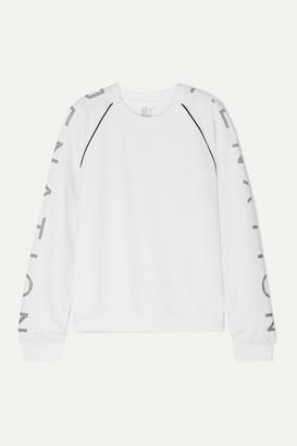 P.E Nation Highline Printed Cotton-jersey Sweatshirt - White