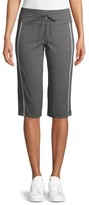 Athletic Works Women's Athleisure Dri More Core Piped Bermuda Shorts