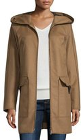 Peuterey Hooded Wool-Blend Jacket, Brown