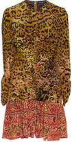 Etro Leopard Print Rushed Dress