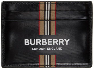 Burberry Black Icon Stripe Card Holder