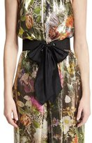 Monique Lhuillier Satin Tie Waist Belt, Noir