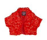 Self Esteem (9240R Big Girls Faux Fur and Sequin Shrug Vest in Size: