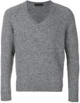 Prada deep V-neck slim-fit jumper