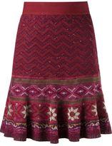 Cecilia Prado tricot flared skirt - women - Acrylic/Viscose - G