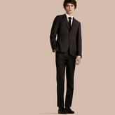 Burberry Slim Fit Check Wool Travel Tailoring Suit