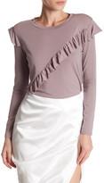 Topshop Long Sleeve Ruffle Shirt