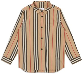 Burberry Kids Icon Stripe Cotton Shirt (3-12 Years)