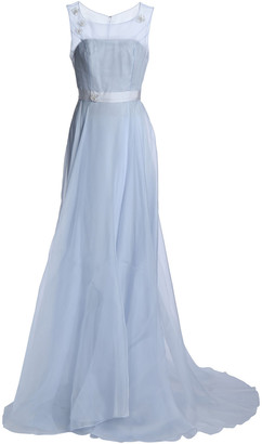 Carolina Herrera Embellished Organza Gown