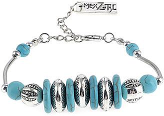 Mexzotic MexZotic Women's Bracelets Silver - Aqua Howlite & Silvertone Disk Bracelet