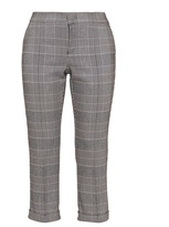 NYDJ Plus Size Cropped check trousers
