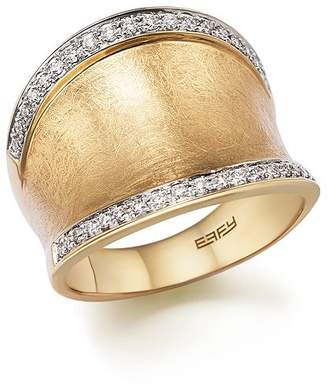 Bloomingdale's Diamond Wide Band in Matte 14K Yellow Gold, .30 ct. t.w. - 100% Exclusive