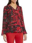 Preston & York-preston york isabela long sleeve vneck blouse