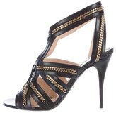 Jerome C. Rousseau Chain-Link Leather Sandals