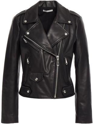 Rebecca Minkoff Studded Embroidered Textured-leather Biker Jacket