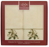 Lenox Set of 2 Holly Ribbon Fingertip Towels