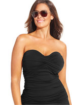 Anne Cole Plus Size Twist-Front Tankini Top
