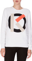 Kenzo Knit Cotton Crewneck Pullover Sweater, White