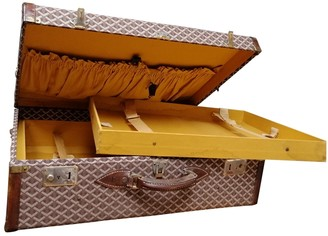 Goyard Brown Cloth Travel bags
