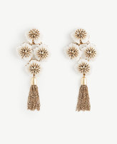 Ann Taylor Textured Floral Statement Earrings