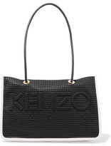 Kenzo Embossed Neoprene-Paneled Perforated Leather Tote