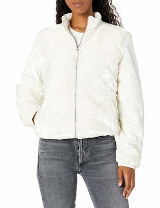 True Religion Women's Velvet Puffer Long Sleeve Jacket