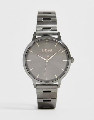 HUGO BOSS 1502503 Marina bracelet watch in gunmetal