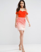 Adelyn Rae Ombre Lace Skirt Dress