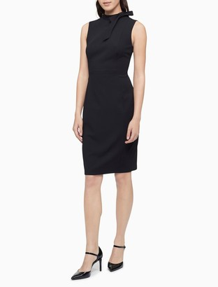 Calvin Klein Bow Neck Sleeveless Sheath Dress