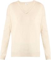 Brunello Cucinelli Monili-embellished V-neck cashmere sweater