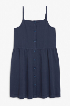 Monki Spaghetti strap denim dress