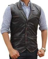fjackets Hell on Wheels Cullen Bohannan Real Leather Vest XL