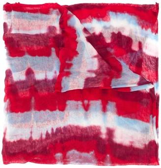Missoni Striped Tie-Dye Print Scarf