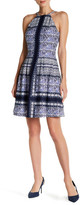 Vince Camuto Sleeveless Printed Scuba Fit & Flare Dress