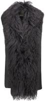 Haute Hippie Shearling-Trimmed Ribbed Merino Wool Vest