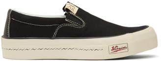 Visvim Black Skagway Slip-On Sneakers