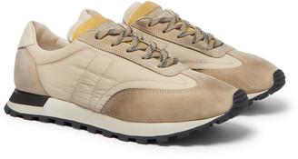 Maison Margiela Leather-Trimmed Shell And Suede Sneakers