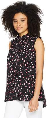 Ellen Tracy Women's Sleeveless Boyfriend Shirt