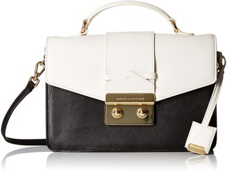Juicy Couture Black Label Color Mixing Top Handle Envelop Flap with Gold Closure with Longer Crossbody Straps