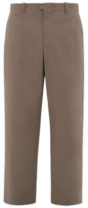 Deveaux - Wool-blend Wide-leg Trousers - Mens - Grey
