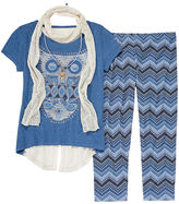 Knitworks Knit Works Short-Sleeve Top and Leggings Set with Scarf and Necklace - Girls 7-16 and Plus