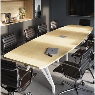 Scale 1:1 Kayak Boat Shaped Conference Table Scale 1:1 Top Finish: Maple, Size: 10' L
