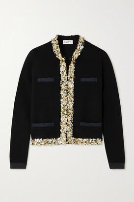 Lanvin - Embellished Wool-blend Cardigan - Black