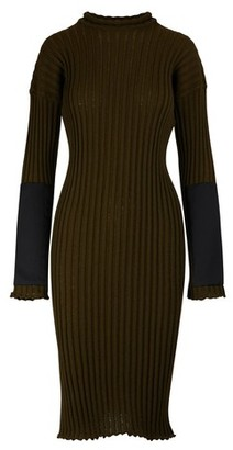 Bottega Veneta Long sleeved midi-dress