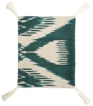 Les Ottomans - Ikat Cotton Table Runner - Green Multi