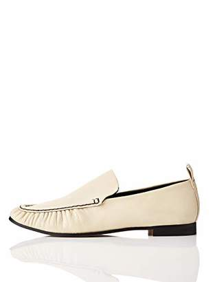 find. Soft Leather Loafers, White