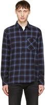 Nudie Jeans Indigo Sten Block Check Shirt