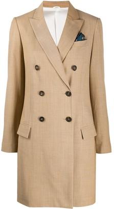 Brunello Cucinelli Double-Breasted Blazer Coat