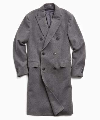 Todd Snyder Italian Cashmere Double Breasted Topcoat in Charcoal